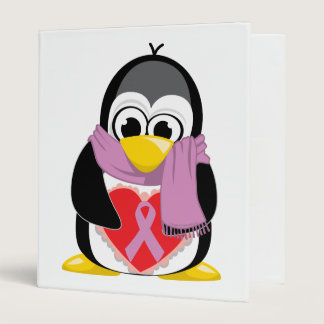Orchid Ribbon Penguin Scarf Binder
