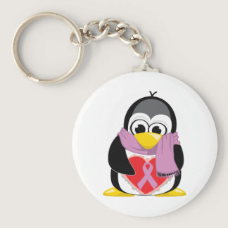 Orchid Ribbon Penguin Scarf Keychain