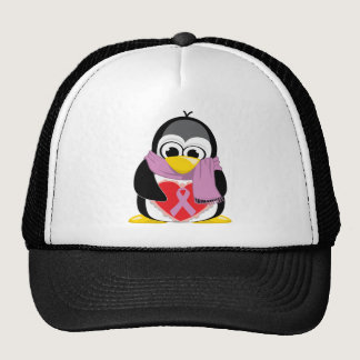 Orchid Ribbon Penguin Scarf Trucker Hat