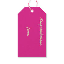 Orchid Rose Congratulations (gold script) Gift Tag