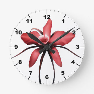 Orchid Round Clock