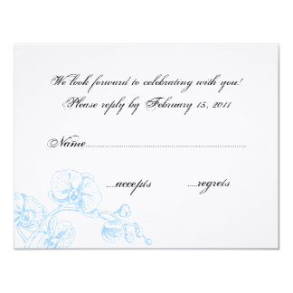 Orchid RSVP Card