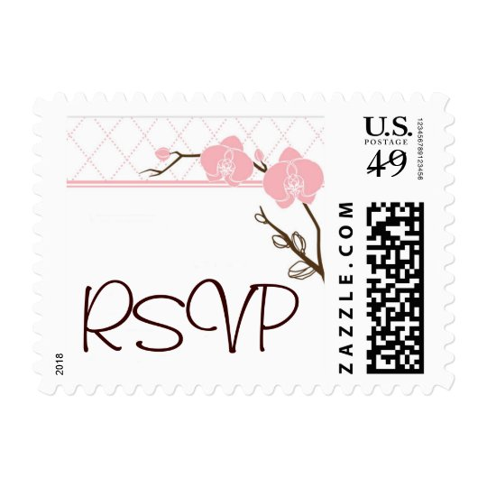 Orchid RSVP small Postage