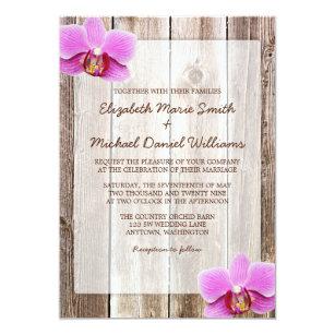 Orchid Wedding Invitations Announcements Zazzle