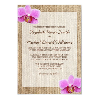Orchid Wedding Invitations Announcements Zazzle