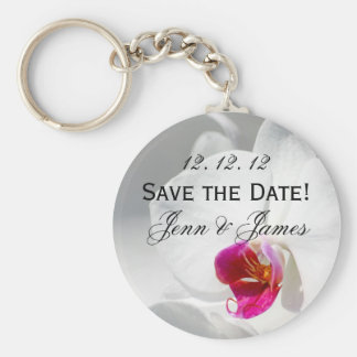 Orchid Save the Date! Key Chains