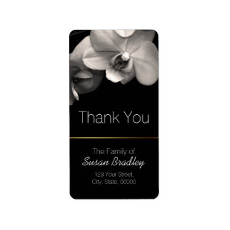 Orchid Sepia Elegant Thank You Label 2