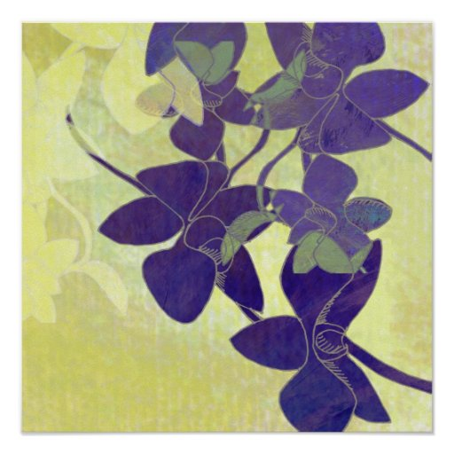 Orchid Shadow Print