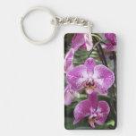 Orchid Single-Sided Rectangular Acrylic Keychain