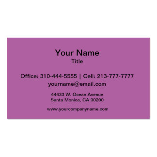 Orchid Solid Color Business Card