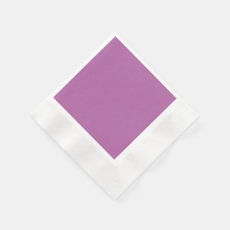 Orchid Solid Color Coined Cocktail Napkin
