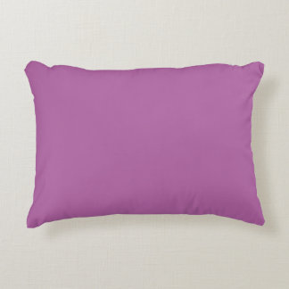Orchid Solid Color Accent Pillow