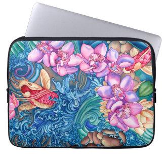 Orchid Splash Neoprene Laptop Sleeve