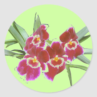 Orchid Spray Sticker Seal