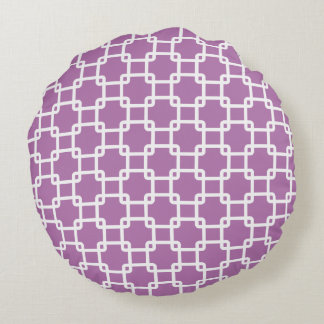 Orchid Square Link Round Pillows