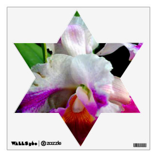 ORCHID STAR OF DAVID WALL DECAL