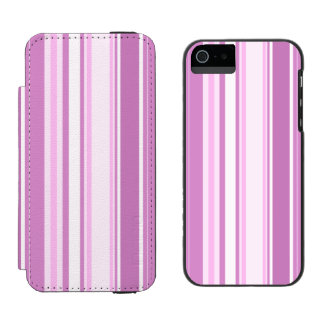 Orchid Stripes Varied Sizes Geometric Pattern iPhone SE/5/5s Wallet Case