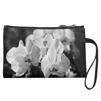 orchid suede wristlet wallet