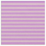 [ Thumbnail: Orchid & Tan Stripes Pattern Fabric ]