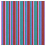 [ Thumbnail: Orchid, Teal, Royal Blue, and Dark Red Colored Fabric ]