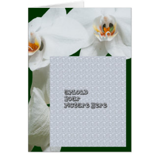 Orchid template card template