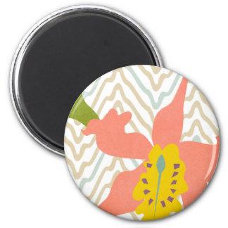 orchid textile magnet 2