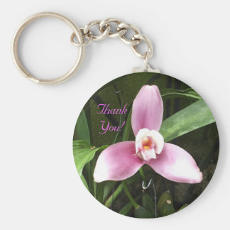 """Orchid """"Thank You"""" Keychain"""