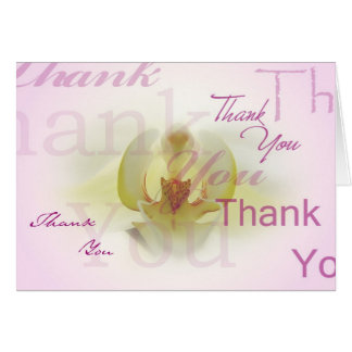 Orchid Thank You Note Card