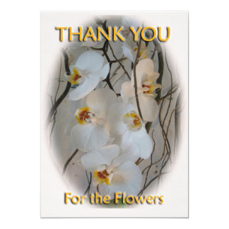 Orchid Thank You Postcard 13 Cm X 18 Cm Invitation Card