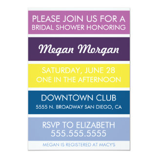 Orchid to Serenity Bridal Shower Invitation