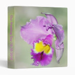 Orchid touched by God for Mom Vinyl Binder