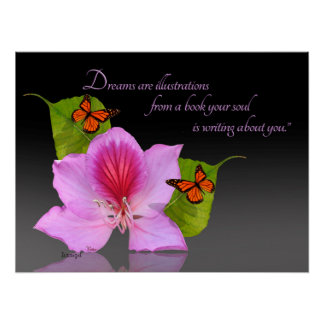 Orchid tree flower art photography Inspirational Poster