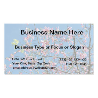 Orchid tree with blue sky business card