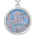 Orchid tree with blue sky custom necklace