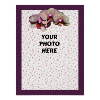 Orchid Trio Photo Template Poster
