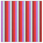 [ Thumbnail: Orchid, Turquoise, Dark Red & Red Lines Fabric ]