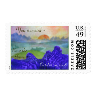Orchid Valley Rainbow Pictures Invitation Postage