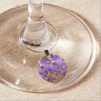 Orchid - Vanda sansai blue Wine Glass Charms