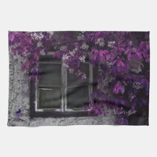Orchid Vines, Window and Gray Stone Towels