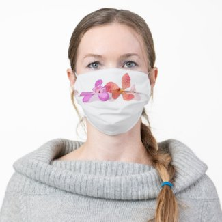 Orchid watercolor cloth face mask