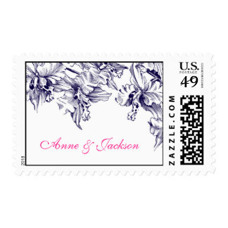 Orchid Wedding Custom Text Stamps