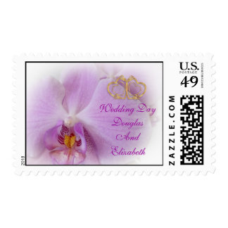 Orchid Wedding Day postage stamp