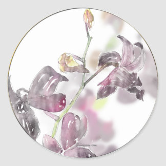 Orchid Wedding Envelope Seal Classic Round Sticker