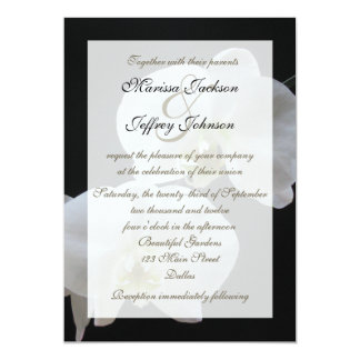 Orchid Wedding Invitation -- White Orchids