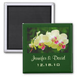 Orchid Wedding Magnet Square Magnet