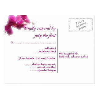 Orchid Wedding RSVP Postcard