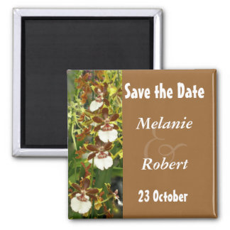 Orchid Wedding Save the Date Magnet