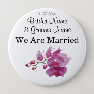 Orchid Wedding Souvenirs Keepsakes Giveaways Pinback Button
