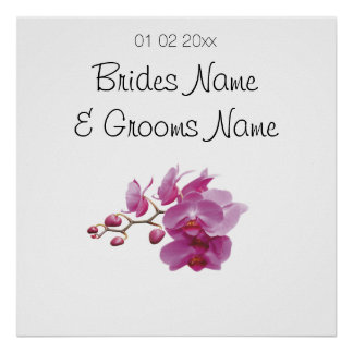 Orchid Wedding Souvenirs Keepsakes Giveaways Poster