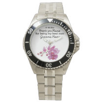 Orchid Wedding Souvenirs Keepsakes Giveaways Wrist Watch